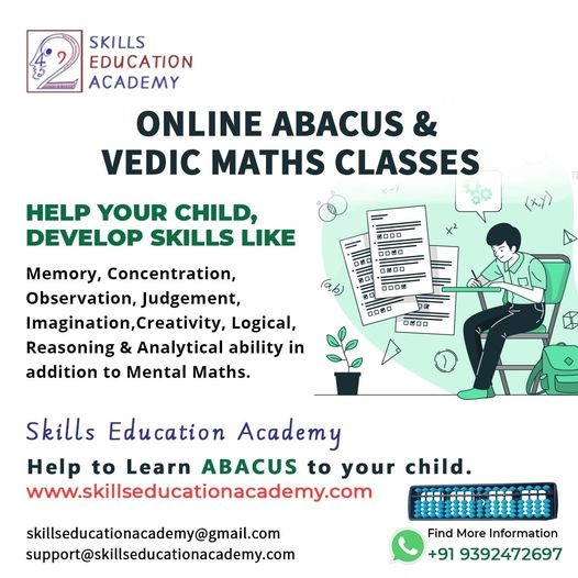 Skill Development Program in India l Abacus, Vedic Math & IAA. Go through our Skills Education Academy Online Portal for best Abacus and Vedic Maths and Writing Skills training Classes.