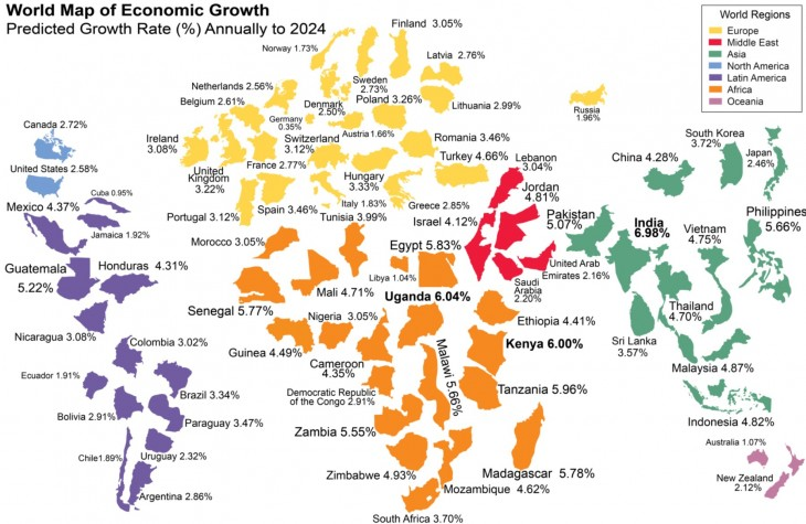 World Map of Economic Growth
